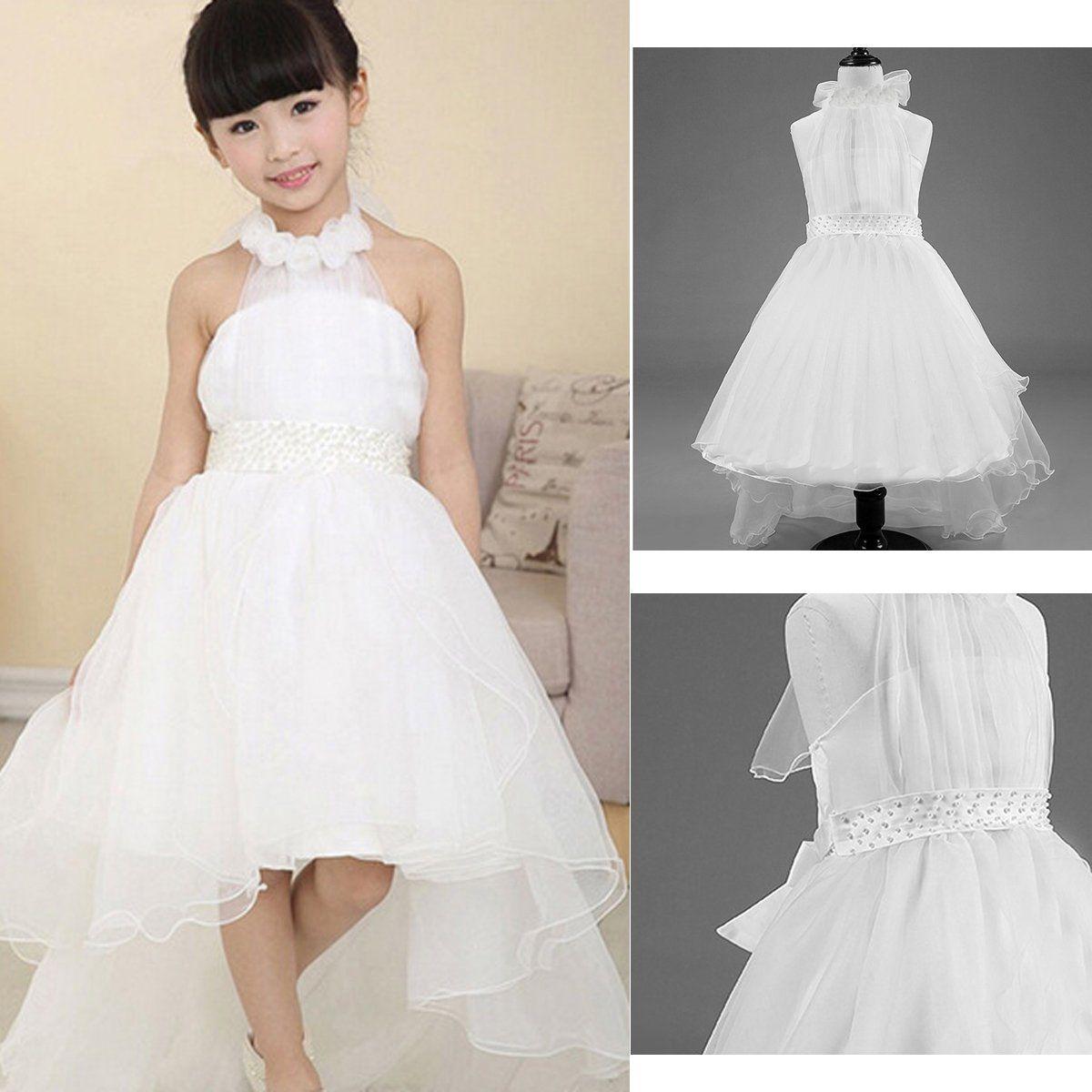 Flower Girl Princess Dress Toddler Baby Wedding Party Bridesmaid Tutu Dresses