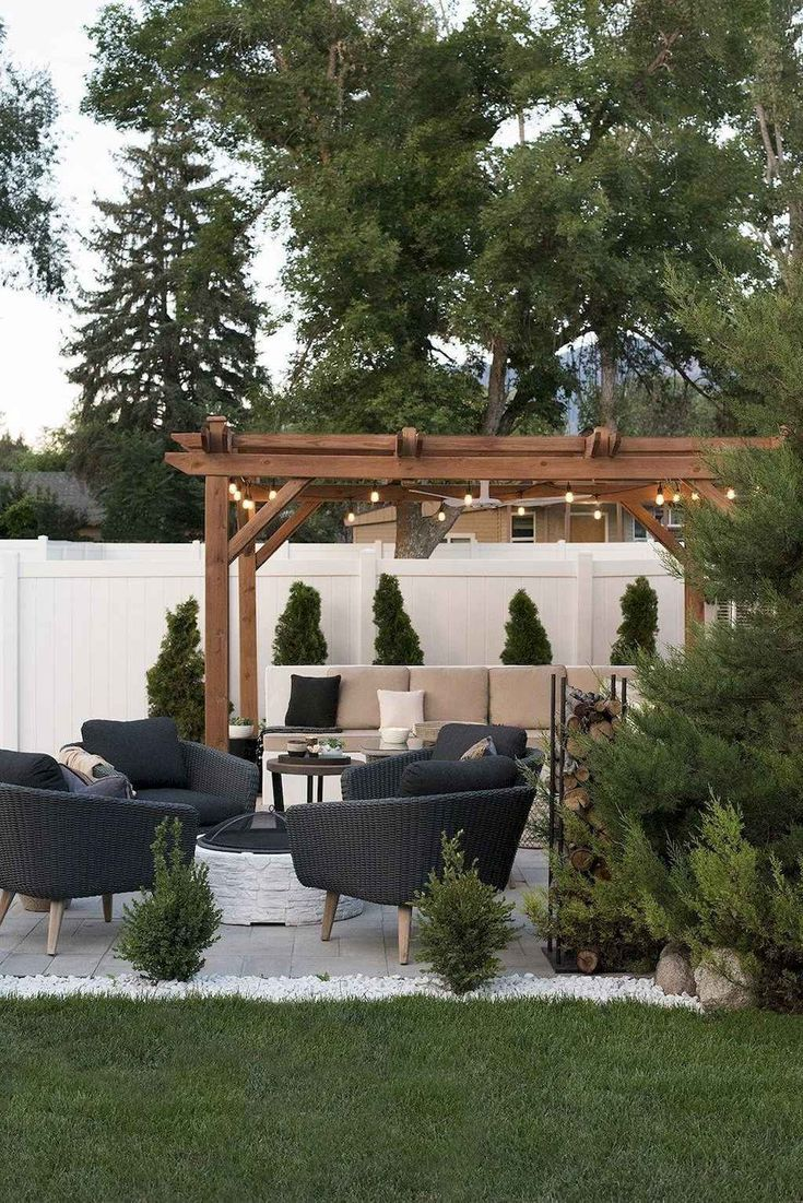 75 Relaxing Summer Backyard Patio Outdoor Seating Ideas,  #Backyard #ideas #Outdoor #Patio #R... #relaxingsummerporches