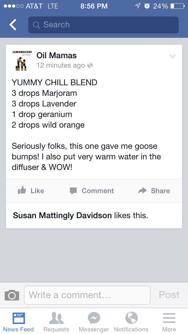 Chill essential oil blend for diffuser - marjoram lavender geranium orange
