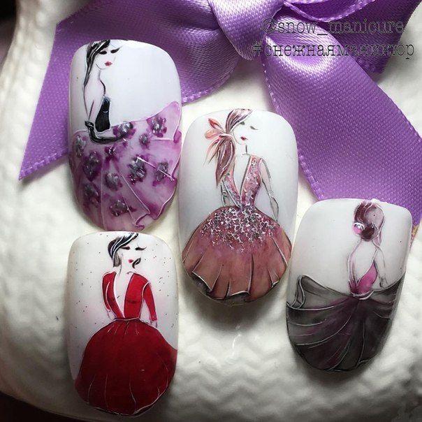 Pin de Iva en Идеи за маникюр   Pinterest   Muñecas