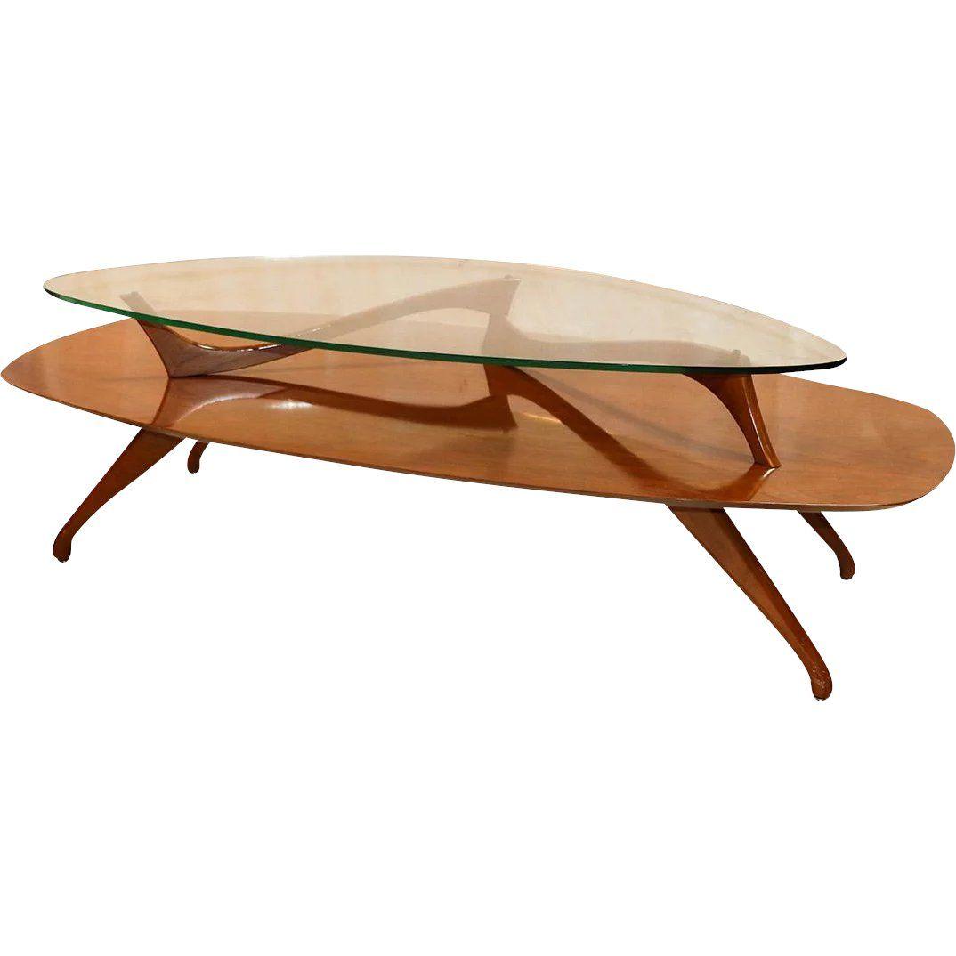 Mid Century Modern Two Tier Vladimir Kagan Style Walnut Coffee Table Www Rubyl Mid Century Coffee Table Mid Century Modern Furniture Coffee Table Design Modern [ 1074 x 1074 Pixel ]