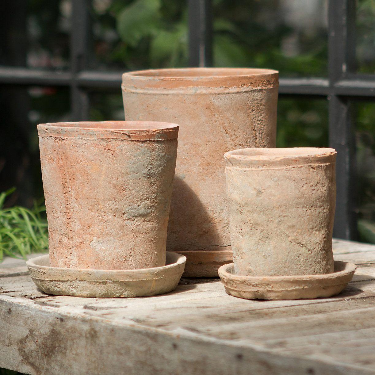 Terrain Terracotta Tall Cylinder Pots
