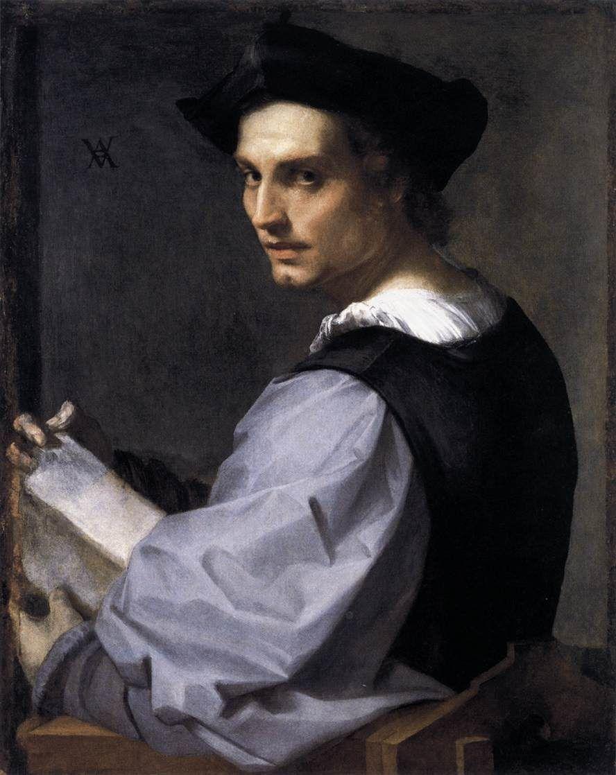 ANDREA DEL SARTO  Portrait of a Young Man  c. 1517