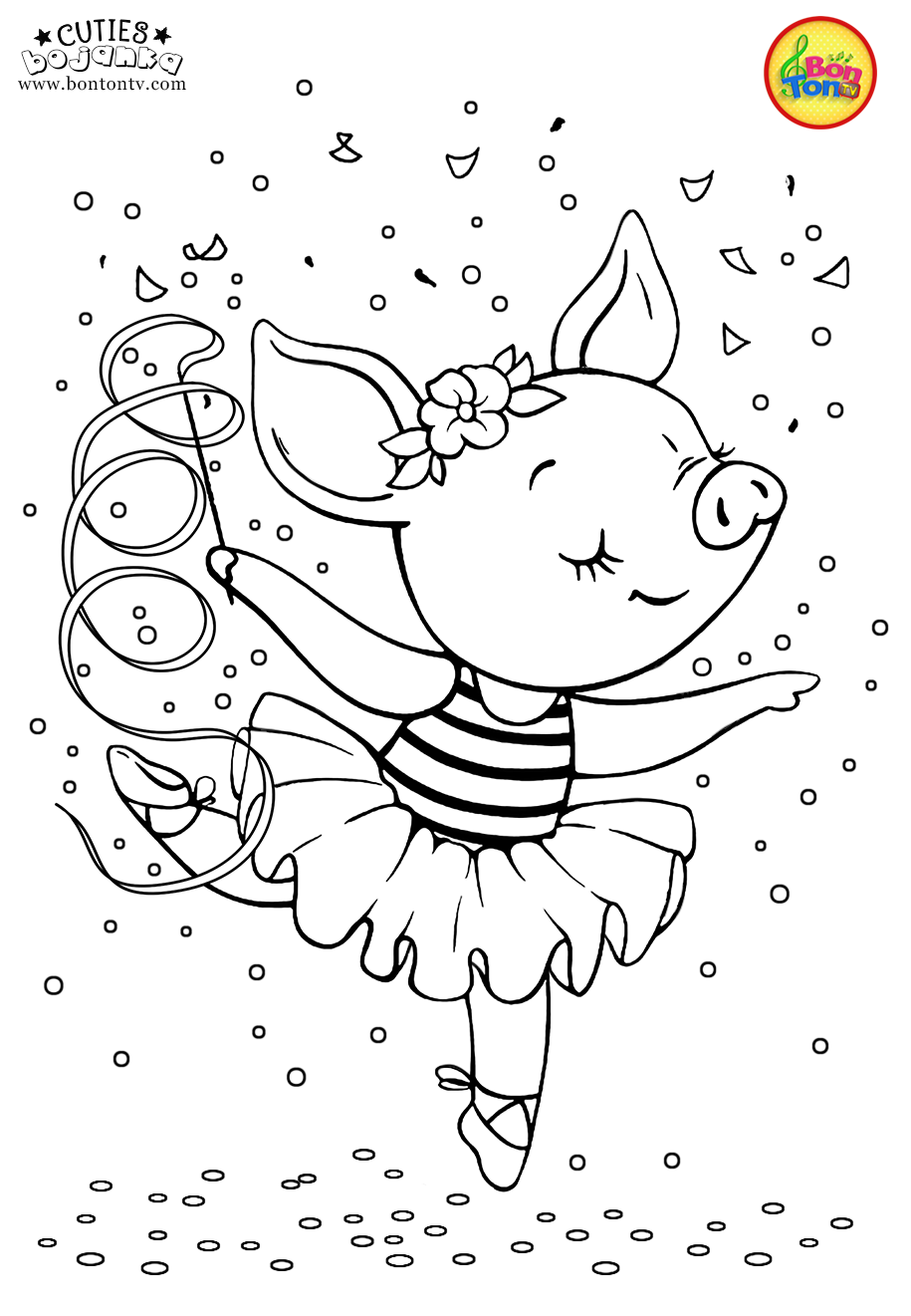 Cuties Coloring Pages For Kids Free Preschool Printables Cute