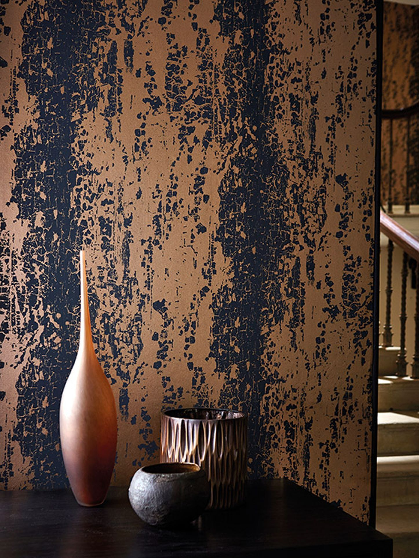 Harlequin Eglomise Paste The Wall Wallpaper Lapis 110623 In 2020 Wall Wallpaper Harlequin Wallpaper Copper Wallpaper