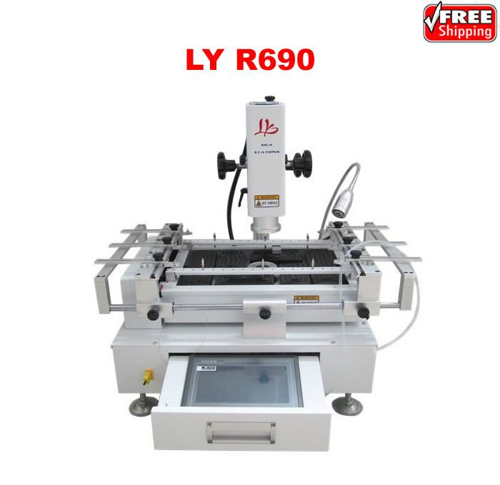 Ly R690 3 Temperature Zones Bga Rework Station Easy Operating With Touch Screen Control Panel Touch Screen Soldering Machine
