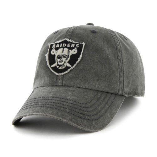 Oakland Raiders Palmetto Garment Washed Adjustable Hat by '47 Brand. $21.99. Six panel construction with eyelets. Officially licensed. Garment Washed Adjustable Hat. 100% Cotton. Embroidered team logo. Cap off your stylish Raiders wardrobe collection with this Oakland Raiders Palmetto Garment Washed Adjustable Hat. Made from a 100% cotton construction, this Oakland Raiders hat features embroidered graphics, an adjustable back closure and has a garment washed design to give you ...