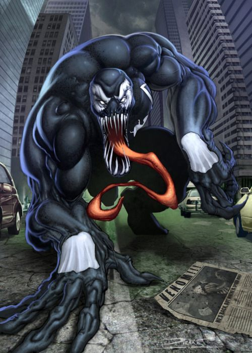 #Venom #Fan #Art. (Venom) By: Michael Drake. (THE * 5 * STÅR * ÅWARD * OF: * AW YEAH, IT'S MAJOR ÅWESOMENESS!!!™)[THANK Ü 4 PINNING!!!<·><]<©>ÅÅÅ+(OB4E)