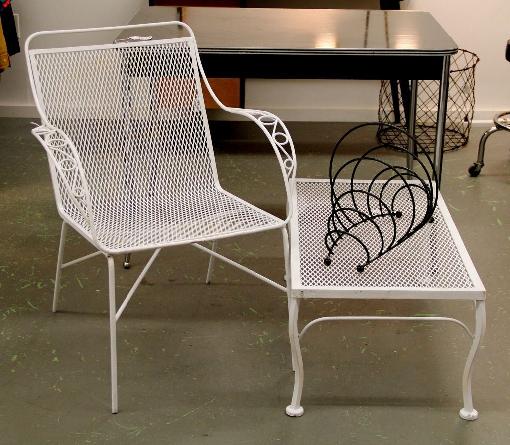 Exterior, Enthralling Metal Patio Chairs Retro Decoration With Stylish Wire  Garden Chair And Cool Metal