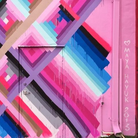 Maya Hayuk's Saturated Street Art