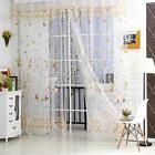Green Tulle Voile Window Butterfly Curtain Door Room Balcony Sheer Panel Scarf