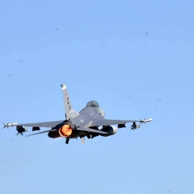 USAF F-16 Fighting Falcon deployed from Kunsan Air Base, Korea