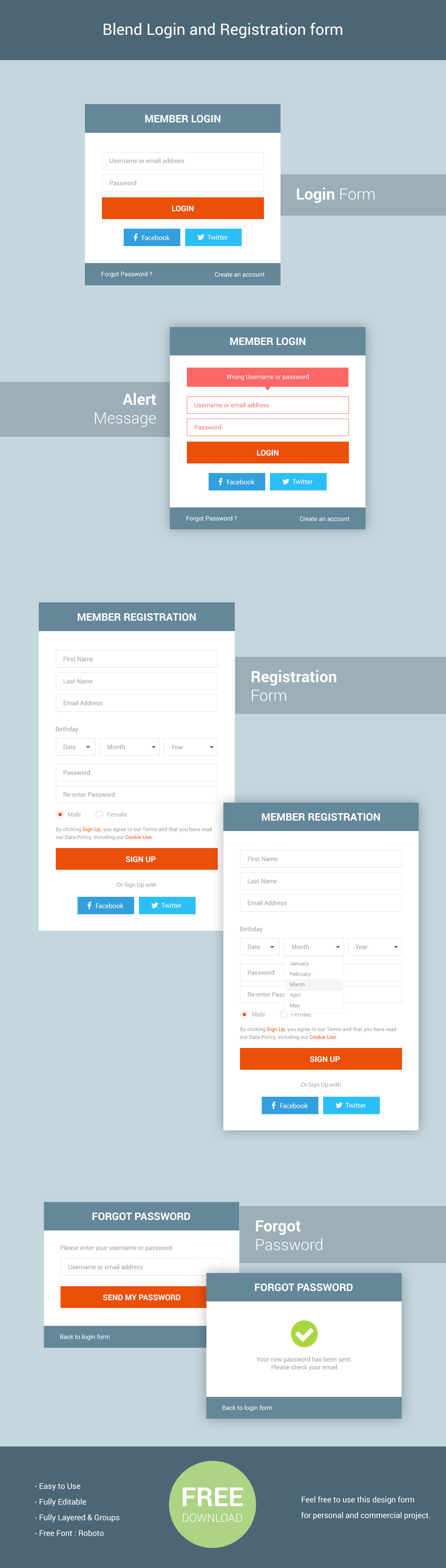 Blend Login And Registration Form On Behance  Onboarding