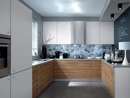 89th Galleo Street White Zebrano U Shaped Kitchen Modern Kitchen