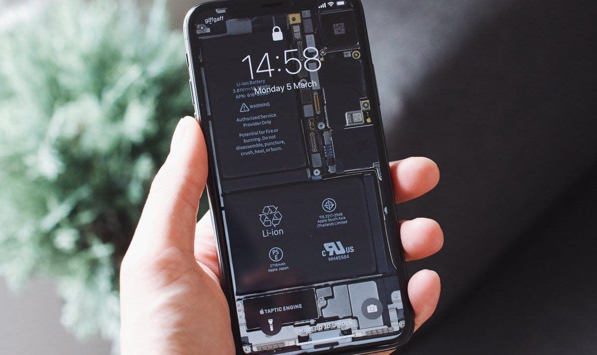 Show Off The Inside Of Your Iphone 11 With This See Through Wallpaper Iphone Wallpaper Lights Iphone Wallpaper Images Apple Wallpaper Iphone