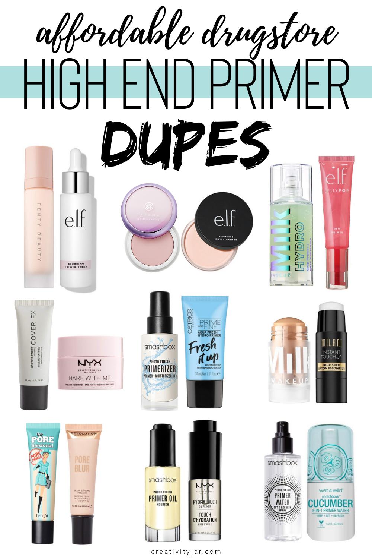 Affordable Drugstore High End Primer Dupes Creativity Jar In 2020 Best Makeup Dupes Primers Dupes Makeup Dupes