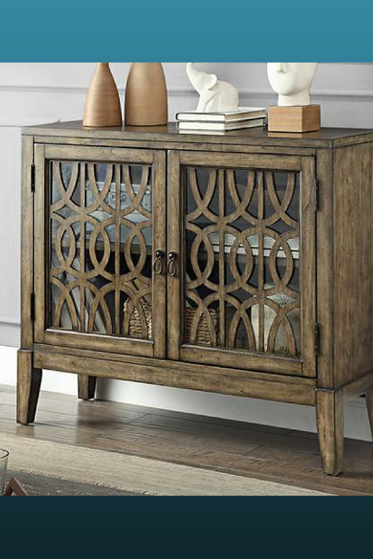 Lovely 2 Door Console Cabinet