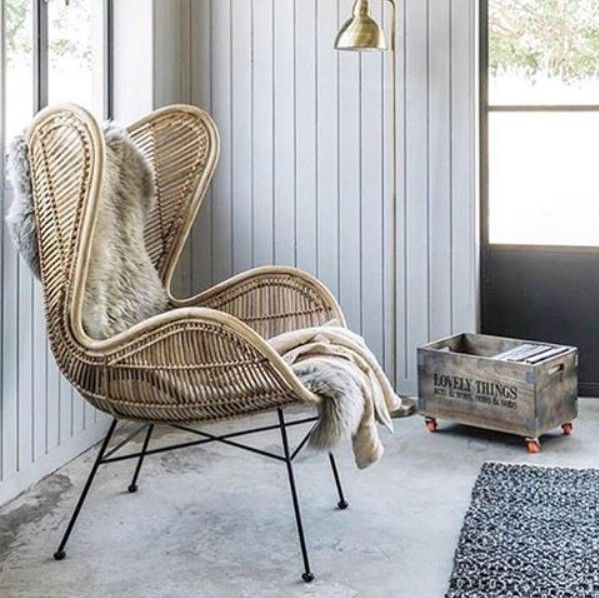 hk living fauteuil egg rotin naturel hk living wicker rattan and cane pinterest rotin. Black Bedroom Furniture Sets. Home Design Ideas
