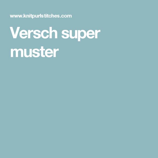 Versch super muster