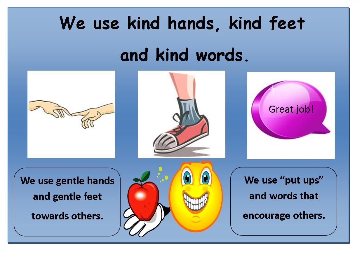 We Use Kind Hands Kind Feet Kind Words Good Manners
