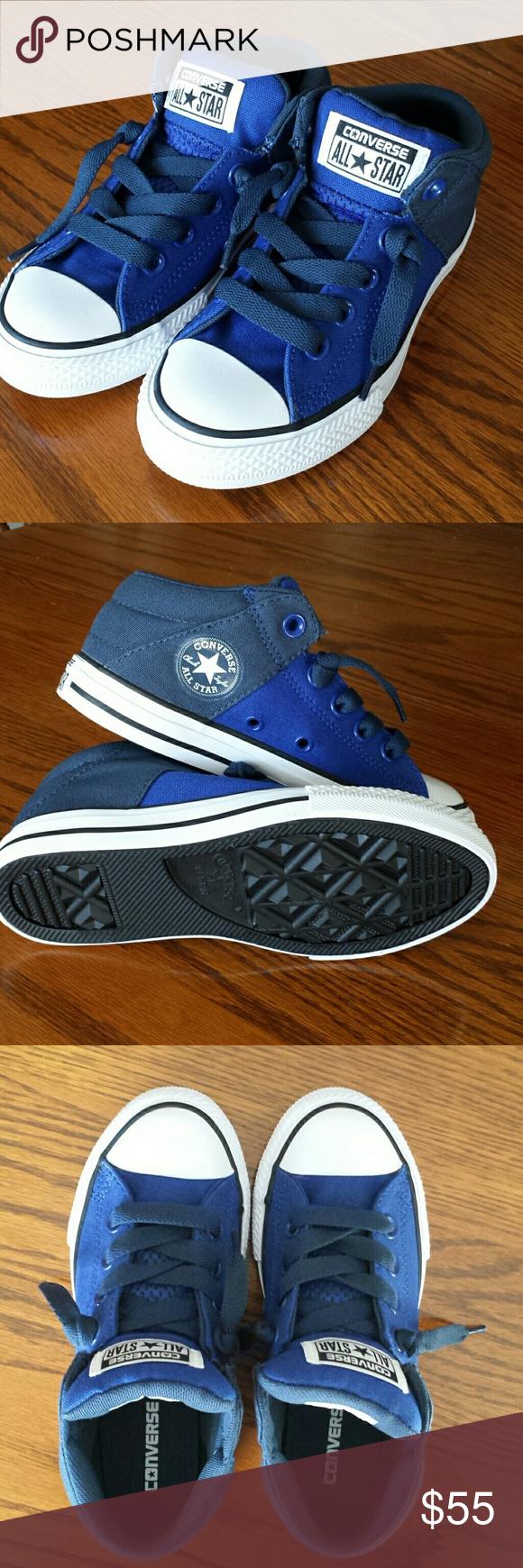 kids royal blue converse