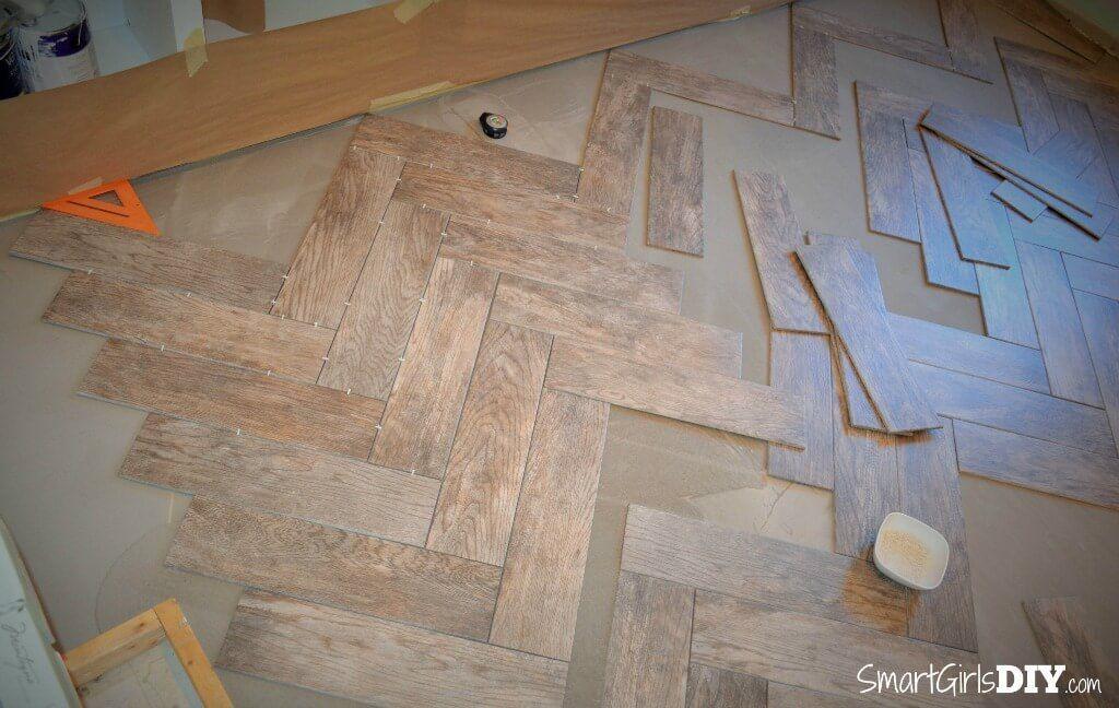 How To Tile A Herringbone Floor Family