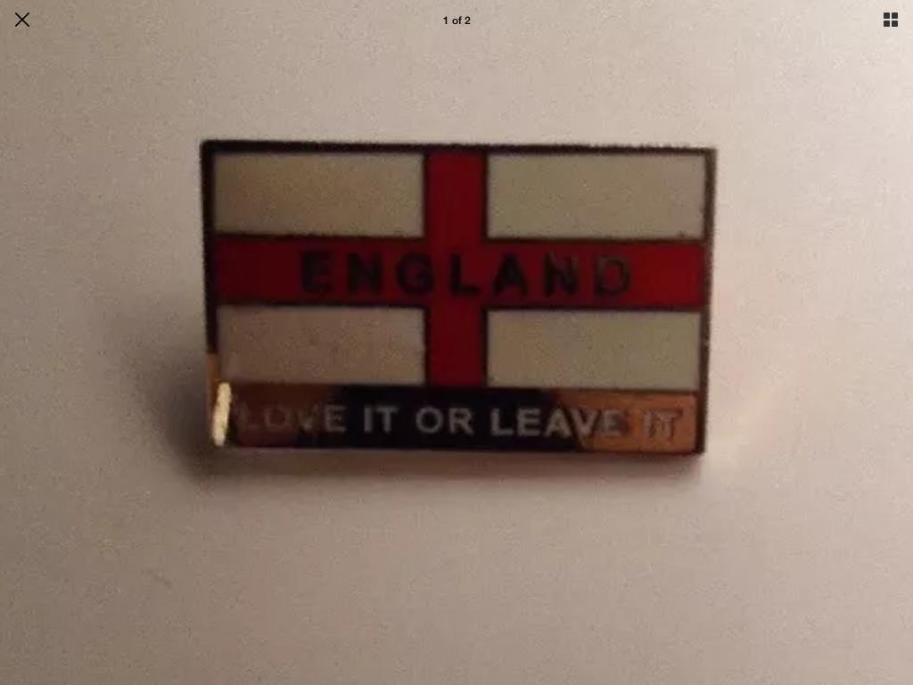 ENGLAND LOVE IT OR LEAVE IT pin badge on eBay Mason1158
