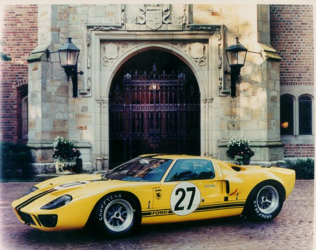 Ford Gt40 Race Yellow Google Search Ford Gt Ford Gt40 Ford Racing