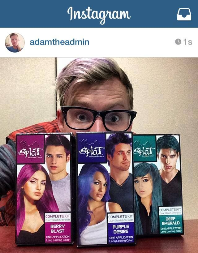 Introducing Our Three New Splat Hair Colors Berry Blast Purple