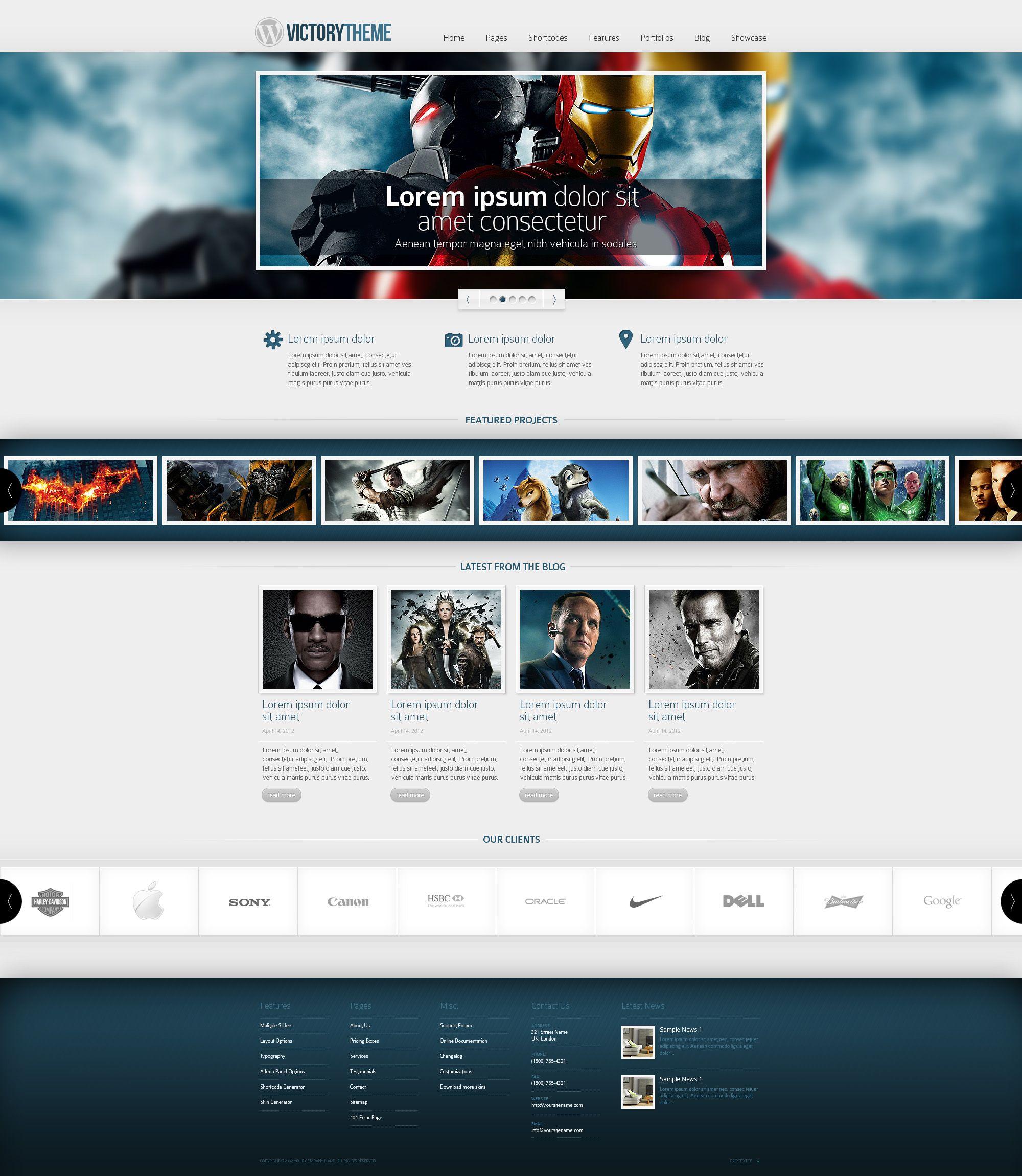 Web Design Wordpress Template By Victorydesign On Deviantart Web Design Web Design Trends Wordpress Template