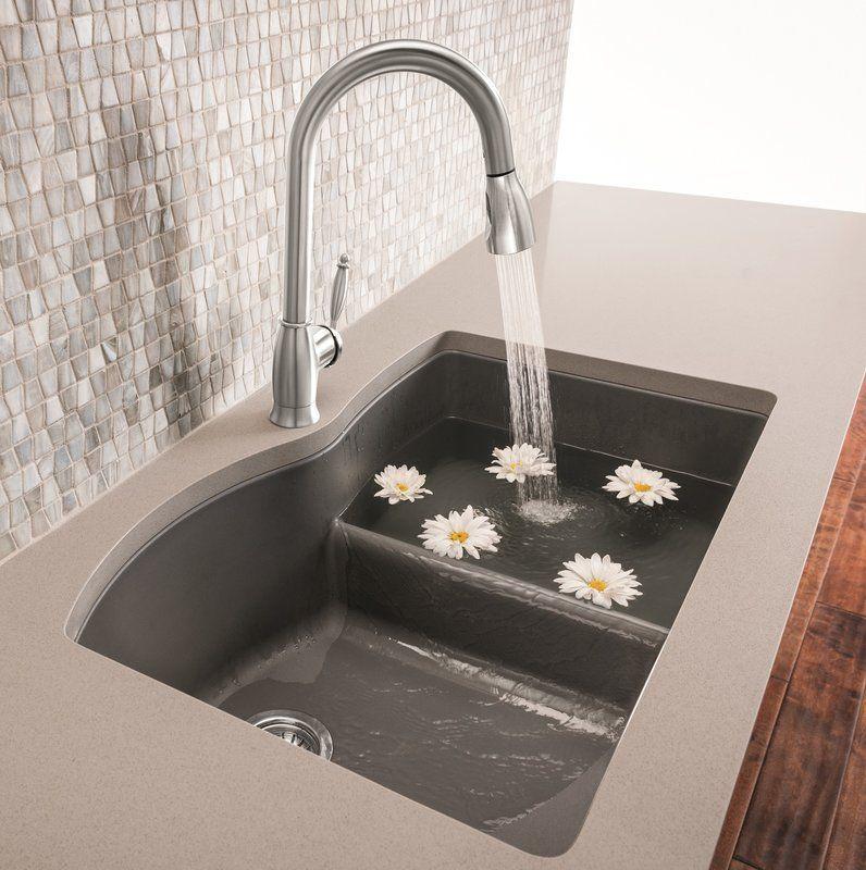 Diamond Silgranit 32 L X 21 W Double Basin Undermount Kitchen Sink In 2020 Kitchen Sink Remodel Silgranit Sink Kitchen And Bath