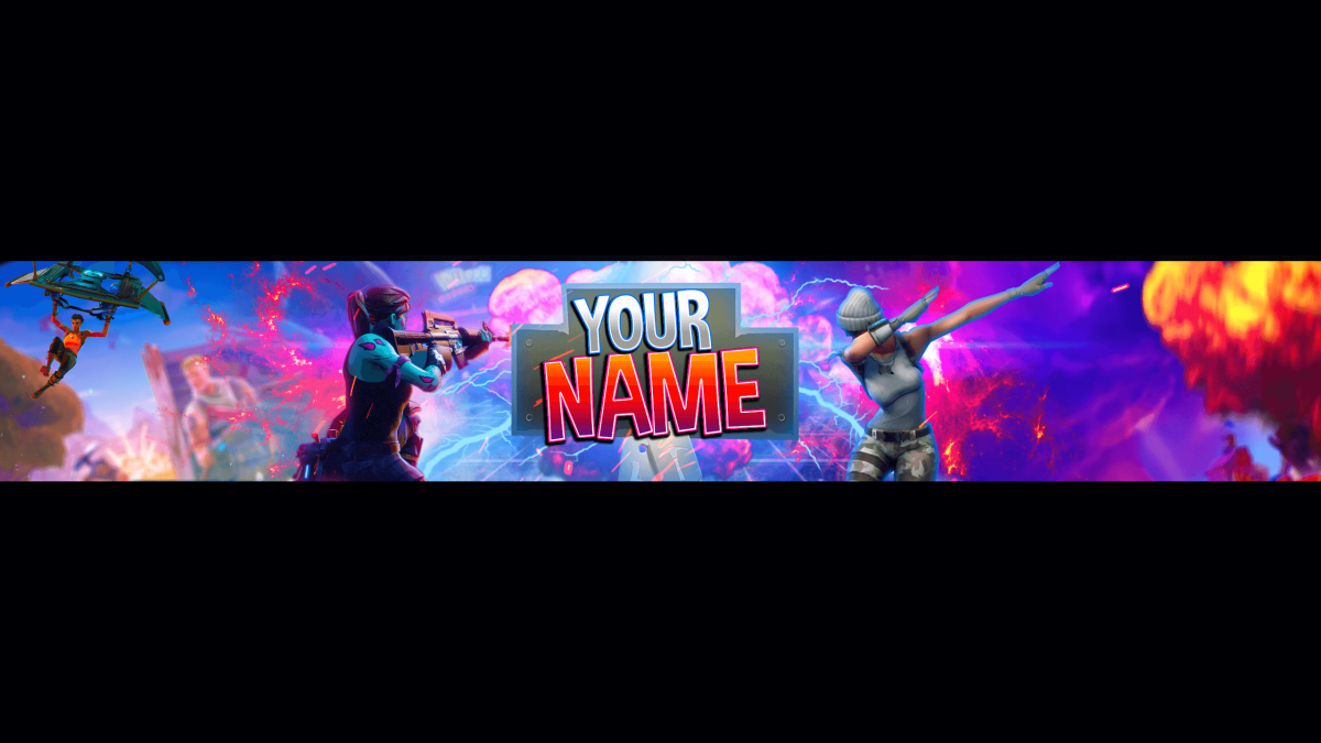 FORTNİTE YOUTUBE BANNER FREE PSD DOWNLOAD 5 (With images