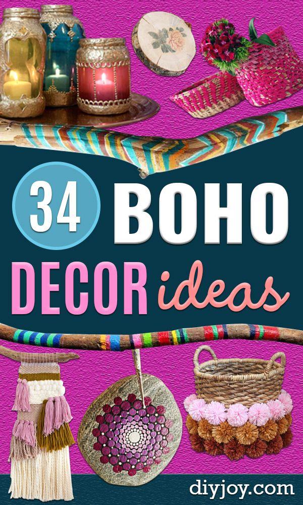 34 DIY Boho Decor Ideas images