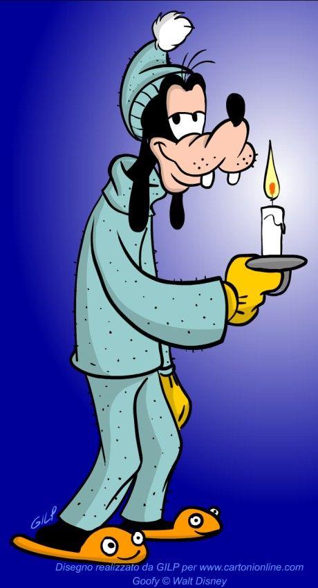 Immagine di pippo in pigiama disegni da colorare buonanotte