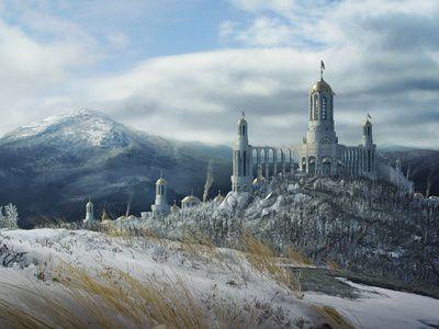 castillo, el señor de los anillos arte virtual
