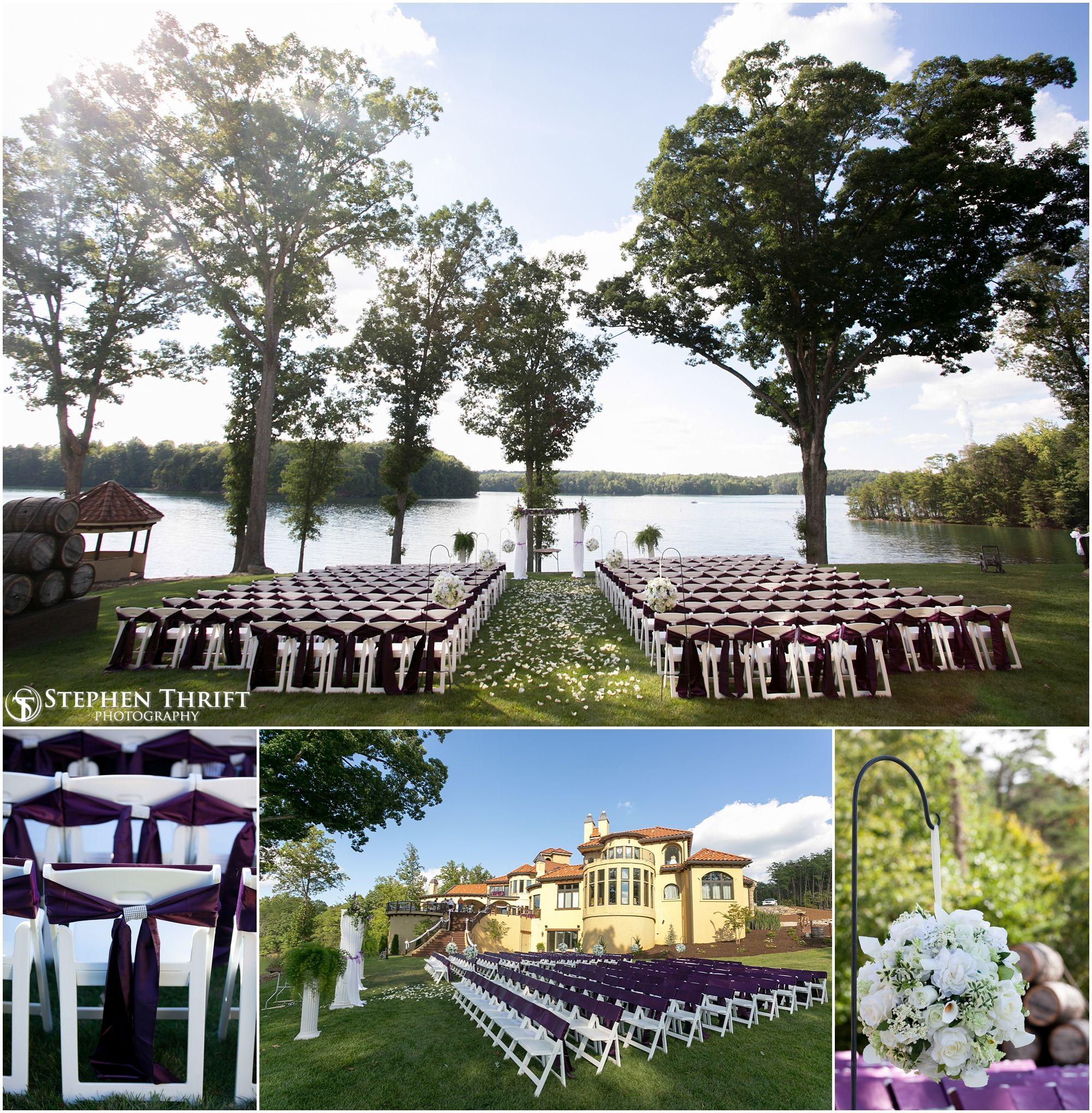 Outdoor Wedding Bella Collina Mansion Purple Www Stephenthriftphoto