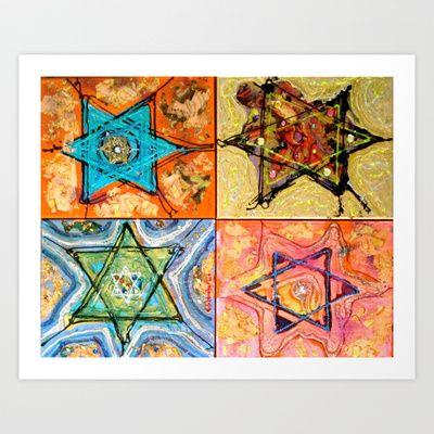 Star of David or David Shield Art Print by Veronique