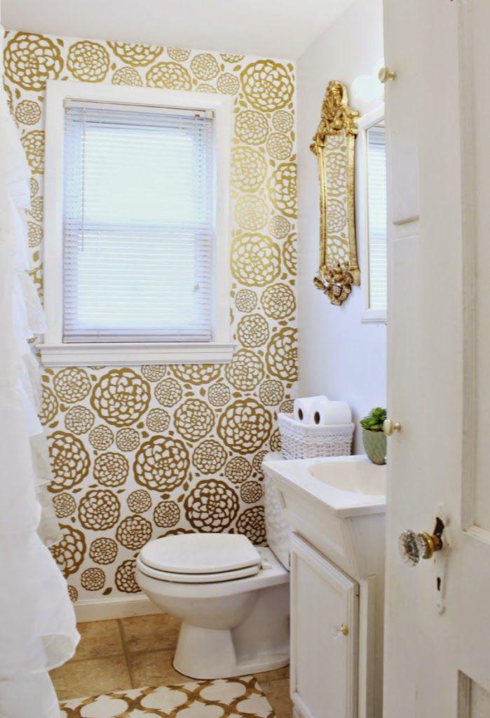 El antes y despu s de un ba o dorado casa decoracion for Diseno y decoracion de banos