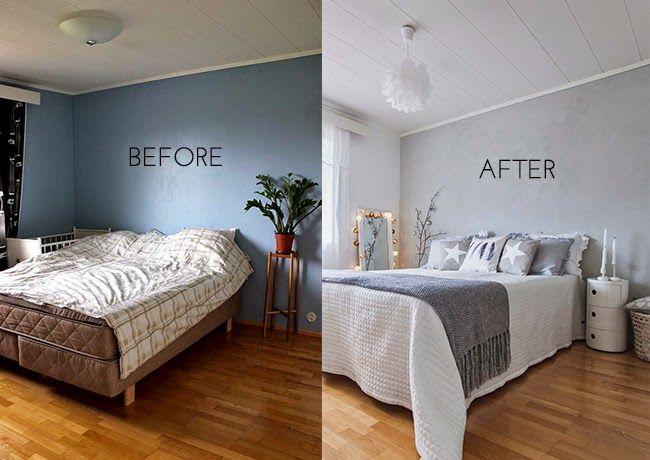 Antes y despu s como cambiar la imagen de un dormitorio con poco dinero before after home - Como cambiar de look en casa ...