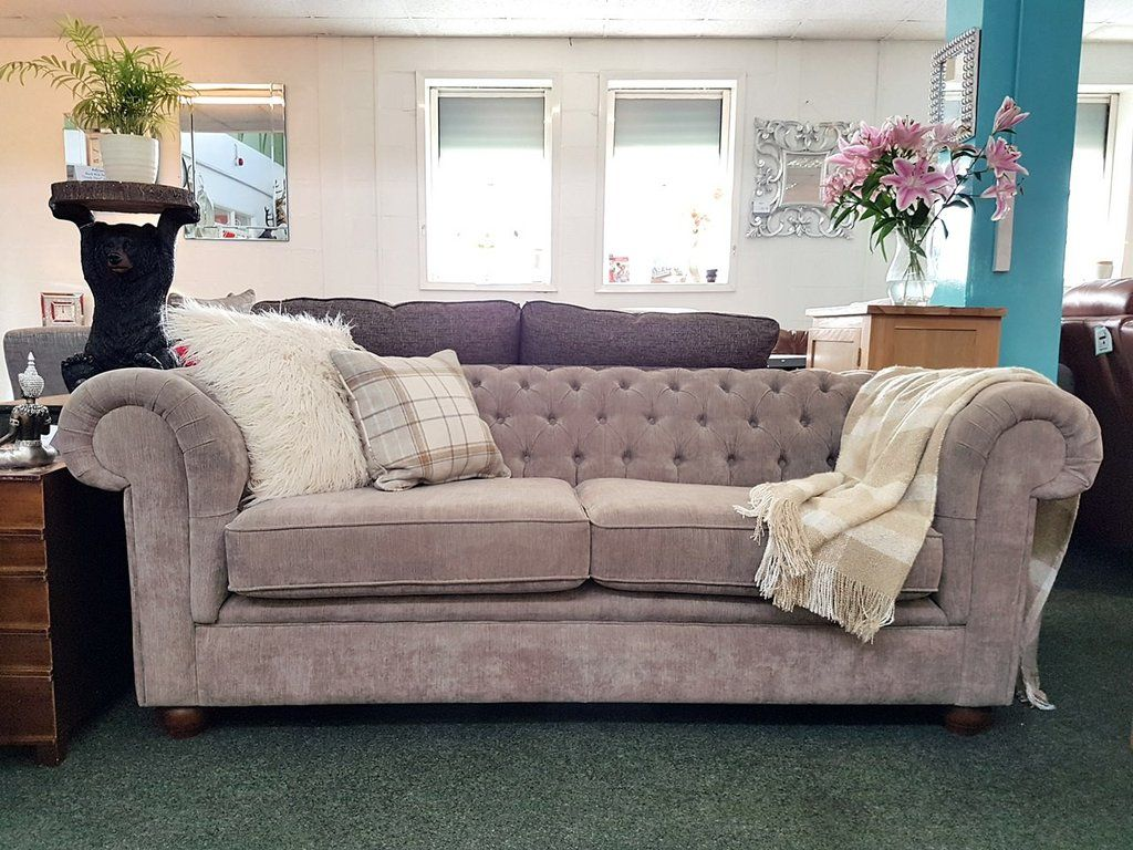 chesterfield 3 seater sofas made for top department store only