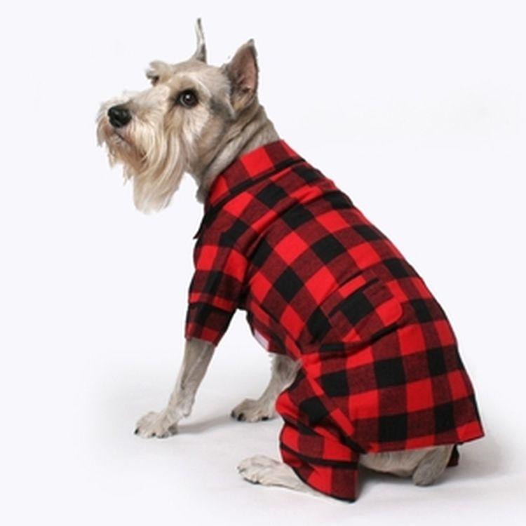 Buffalo Plaid Dog Pajamas Dog Pajamas Designer Dog