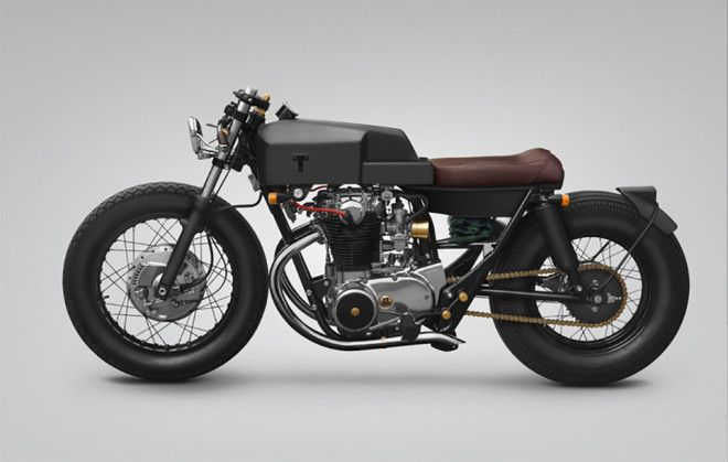 A 45 Year Old Yamaha Motorcycle With Industiral Inspired Design