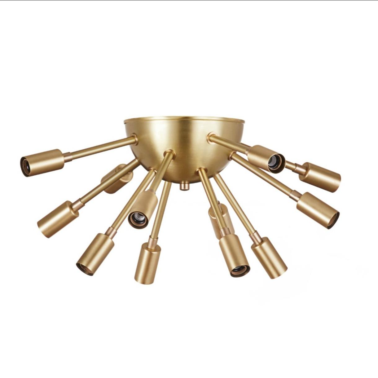 eclectic lighting. Brass Flushmount Sputnik Light - We Love This Funky, Eclectic Lighting. It Would Make Lighting C