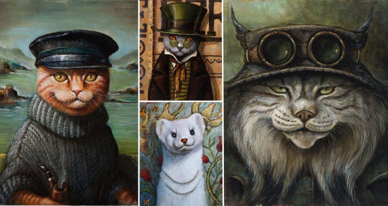 Whimsical Portraits Of Creatures From The Pacfic Northwest Art Creatures Drawings