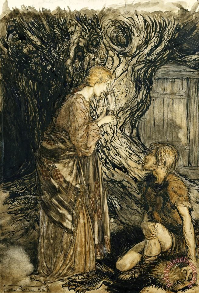 An Illustration to The Rheingold And The Valkyrie Painting by Arthur Rackham