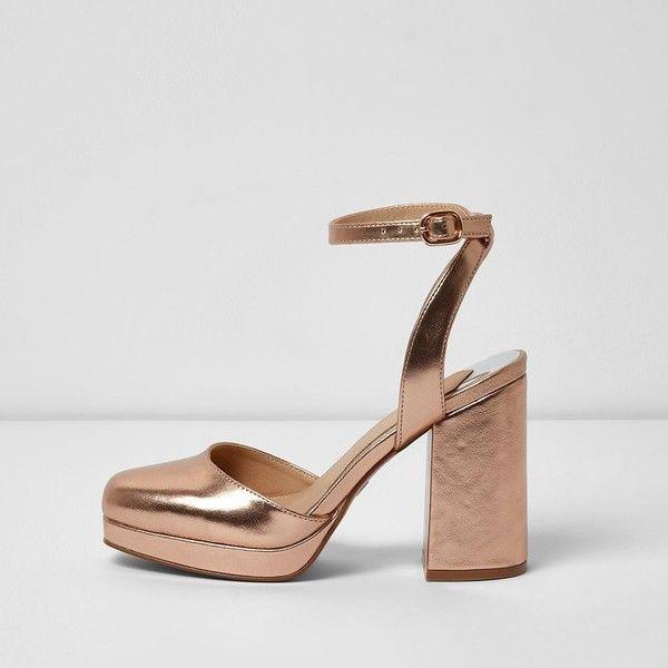 platform block heel sandals