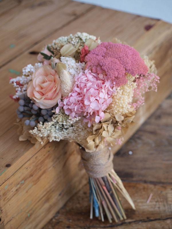 ramo de novia de flores preservadas   ramo novia   pinterest   ramos