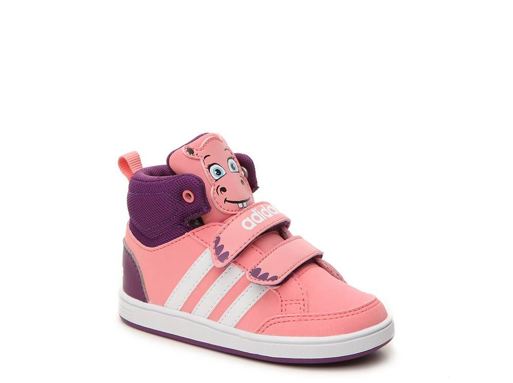 adidas NEO Hoops Hippo Girls Infant & Toddler Velcro High-Top Sneaker | DSW