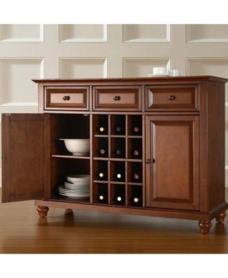 Crosley Cambridge Buffet Server Sideboard Cabinet With Wine ...