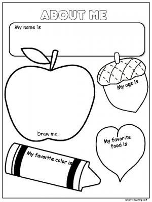 About Me Freebie Activity For Fall. Students draw pictures